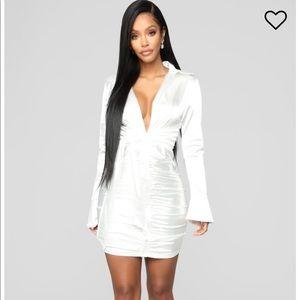 Satin white dress